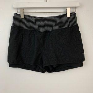 MPG black and gray running shorts
